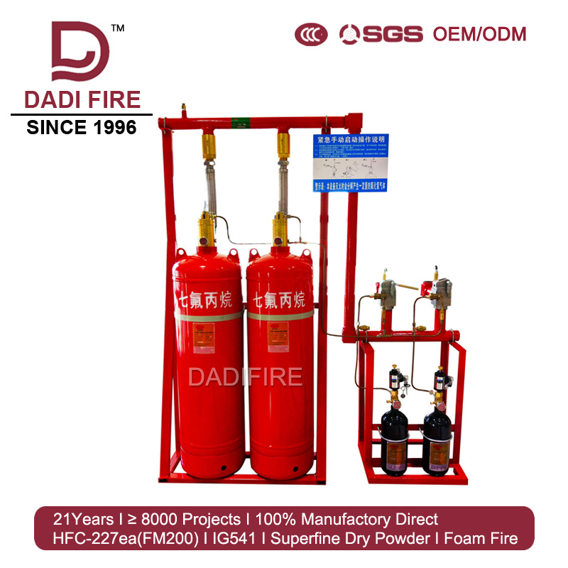 China Factory CCC Certification Auto FM200 Fire Extinguishing System ...