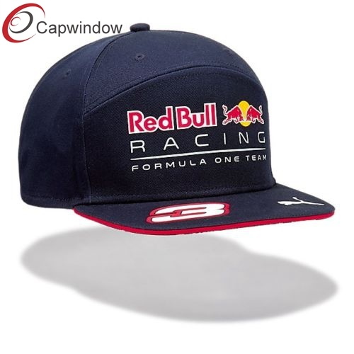 fed04ce90ce China 7 Panel Snapback Hat with Custom Logo Red Bull Flexfit Brand ...