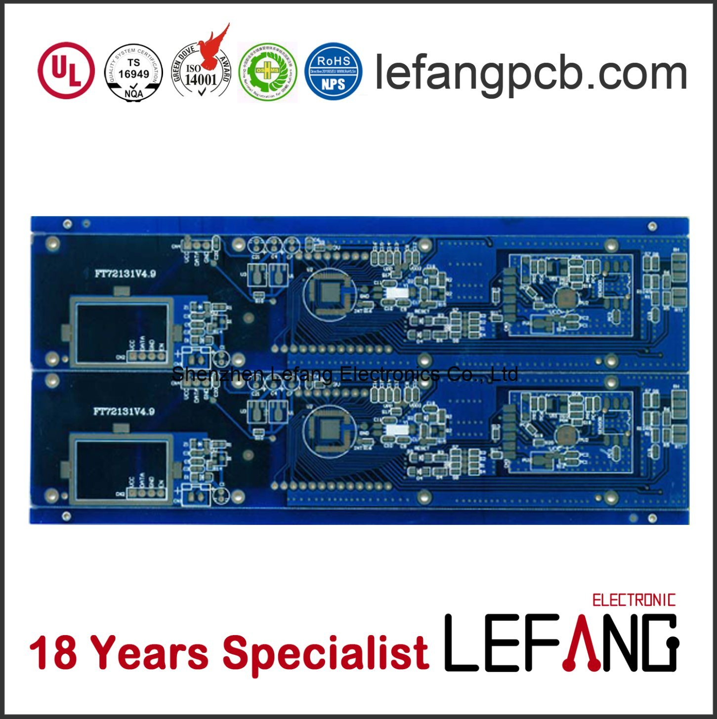 [Hot Item] Fr4 Blue Solder Thick Copper PCB with Immersion Gold