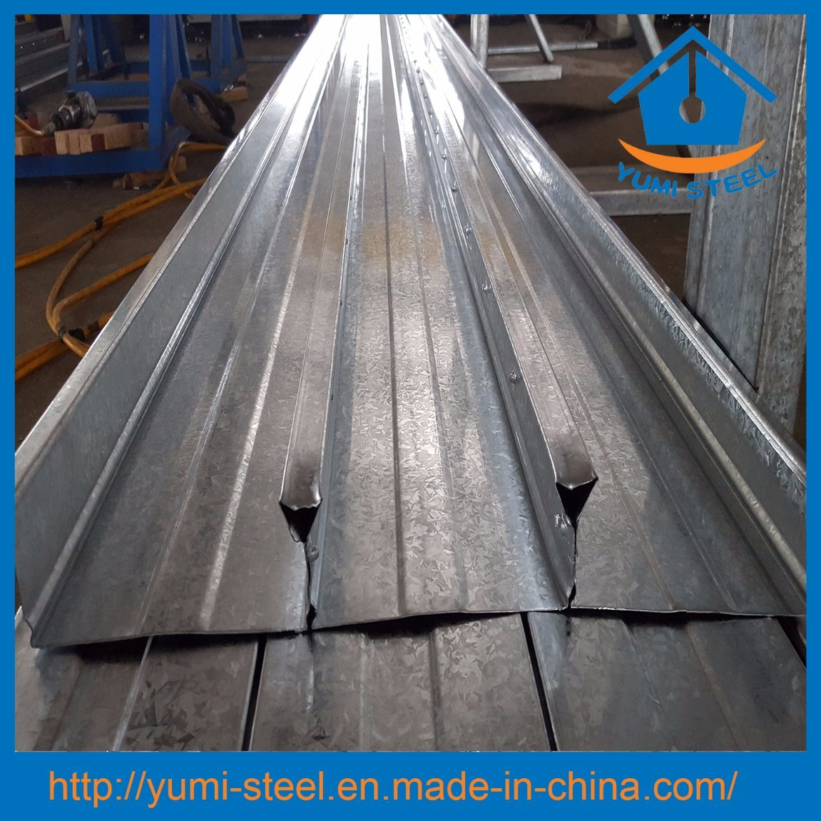 China Galvanized Steel Bondek Slab Floor Decking Sheet
