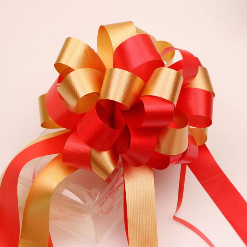 20Pcs Rapid Satin Pull Bows Wedding Pull String Bows for Gift Decor Xmas Hamper
