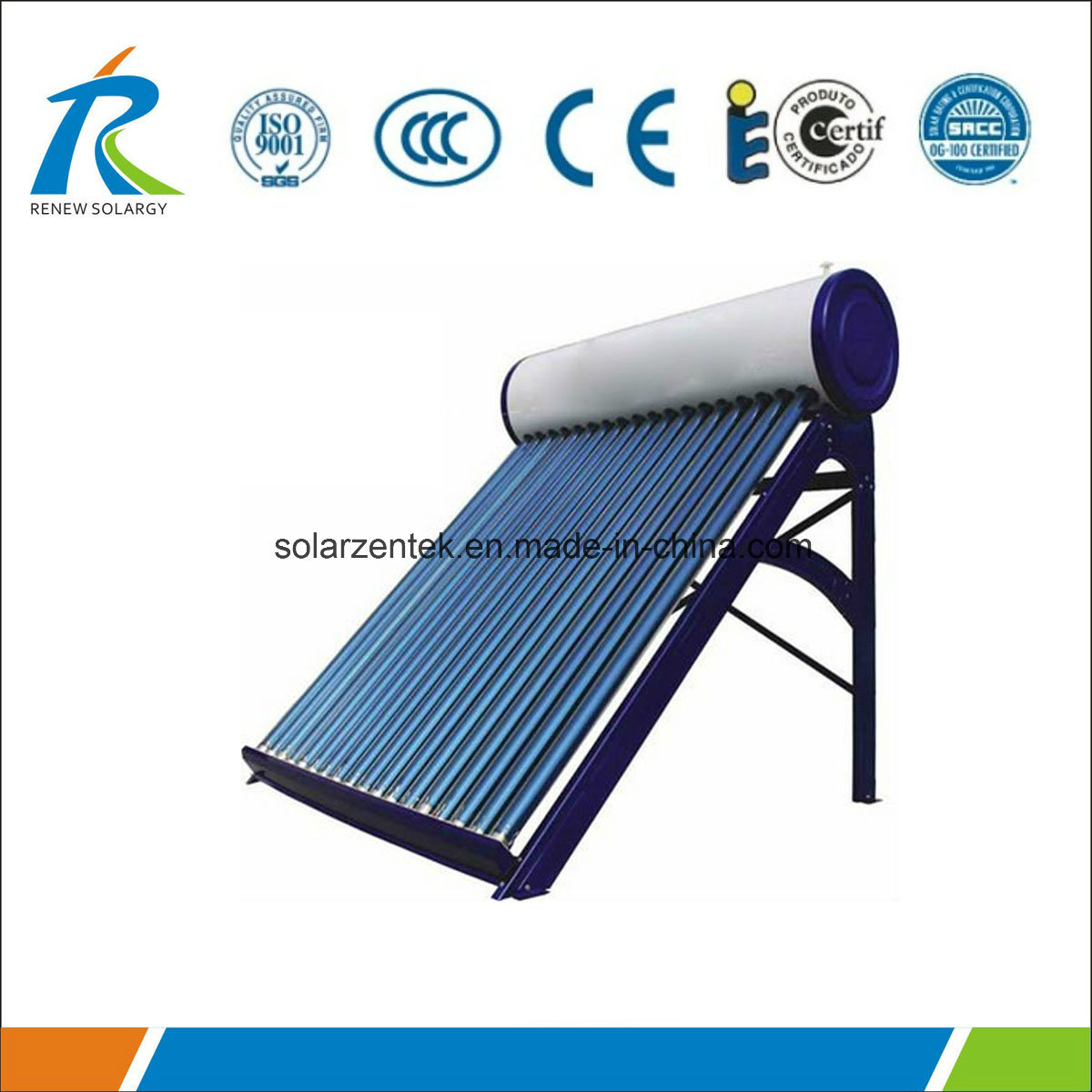 China Solar Water Heating System 100L Non-Pressure Type Photos ...