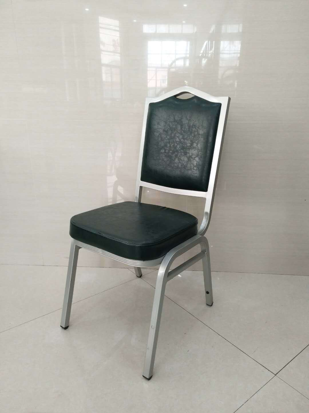 Hot Item Stacking Black Aluminium Banquet Chair For Hotel Cheap Dining Chairs For Wholesale Modern Concert Hall
