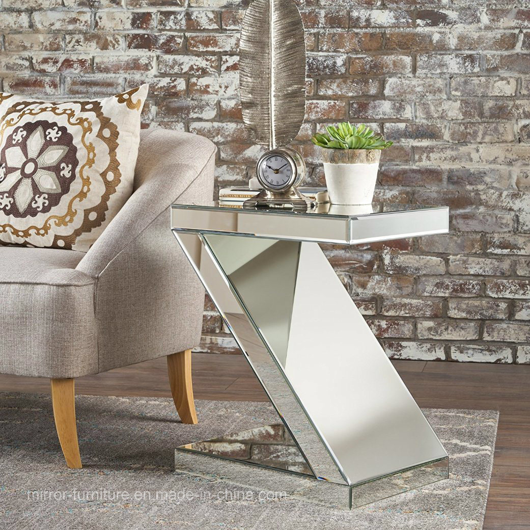 China z shaped modern mirrored side table end table china modern side table home furniture