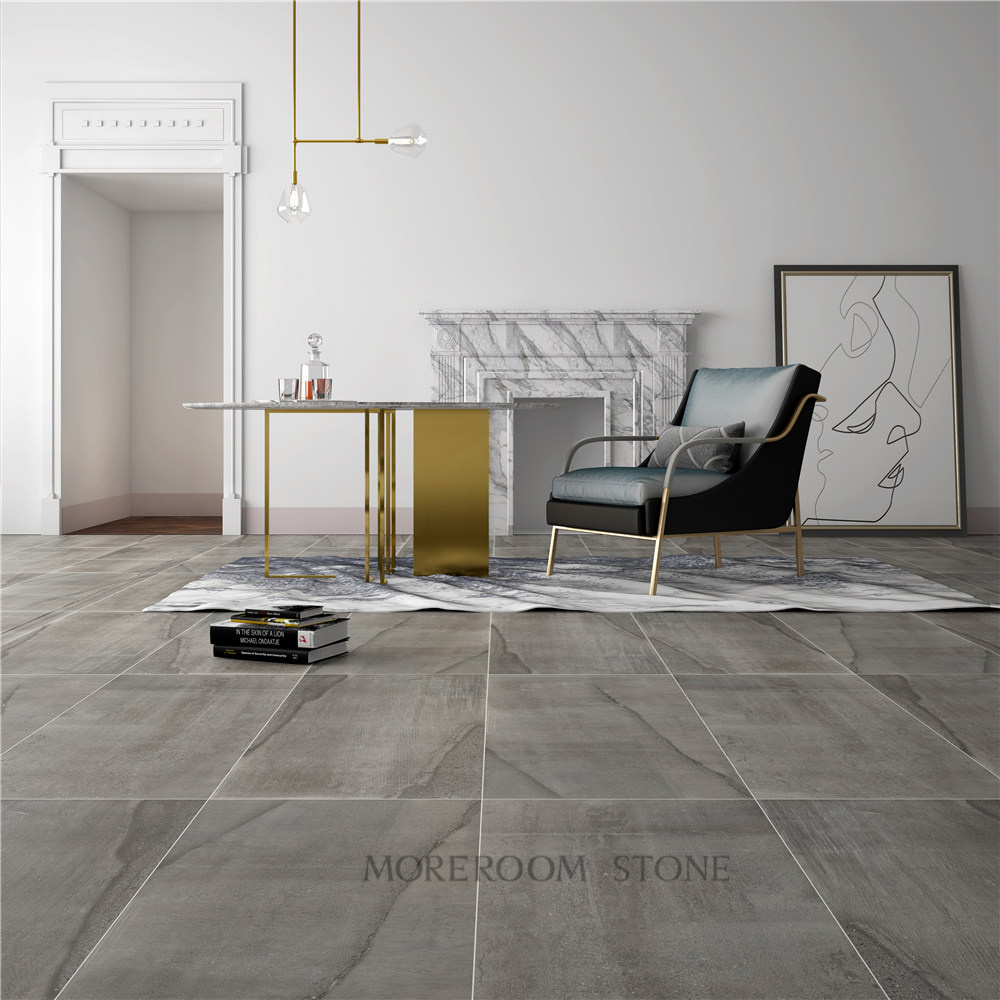 China Matte Floor Tile Concrete Large Format Porcelain Tile ...