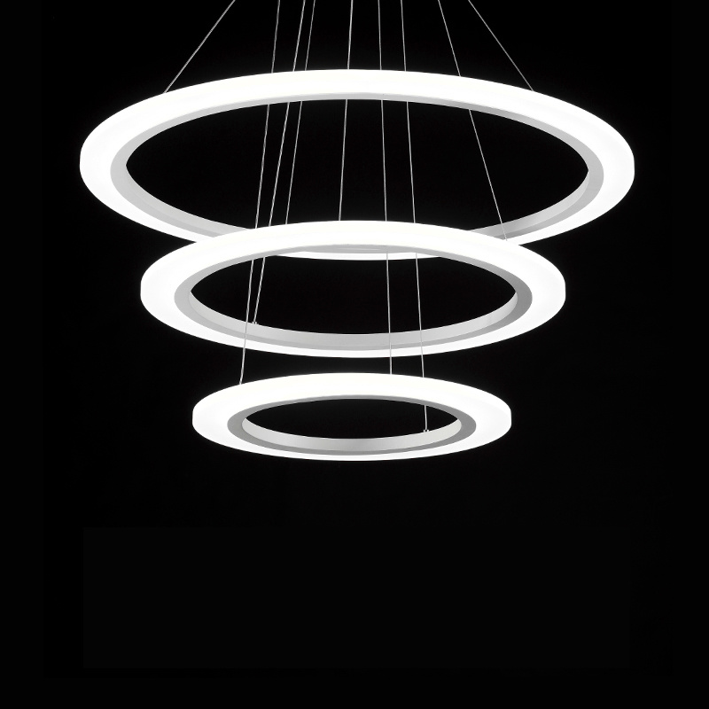 China Nordic Modern Restaurant Round Ring Chandeliers Led Pendant Light Lamp