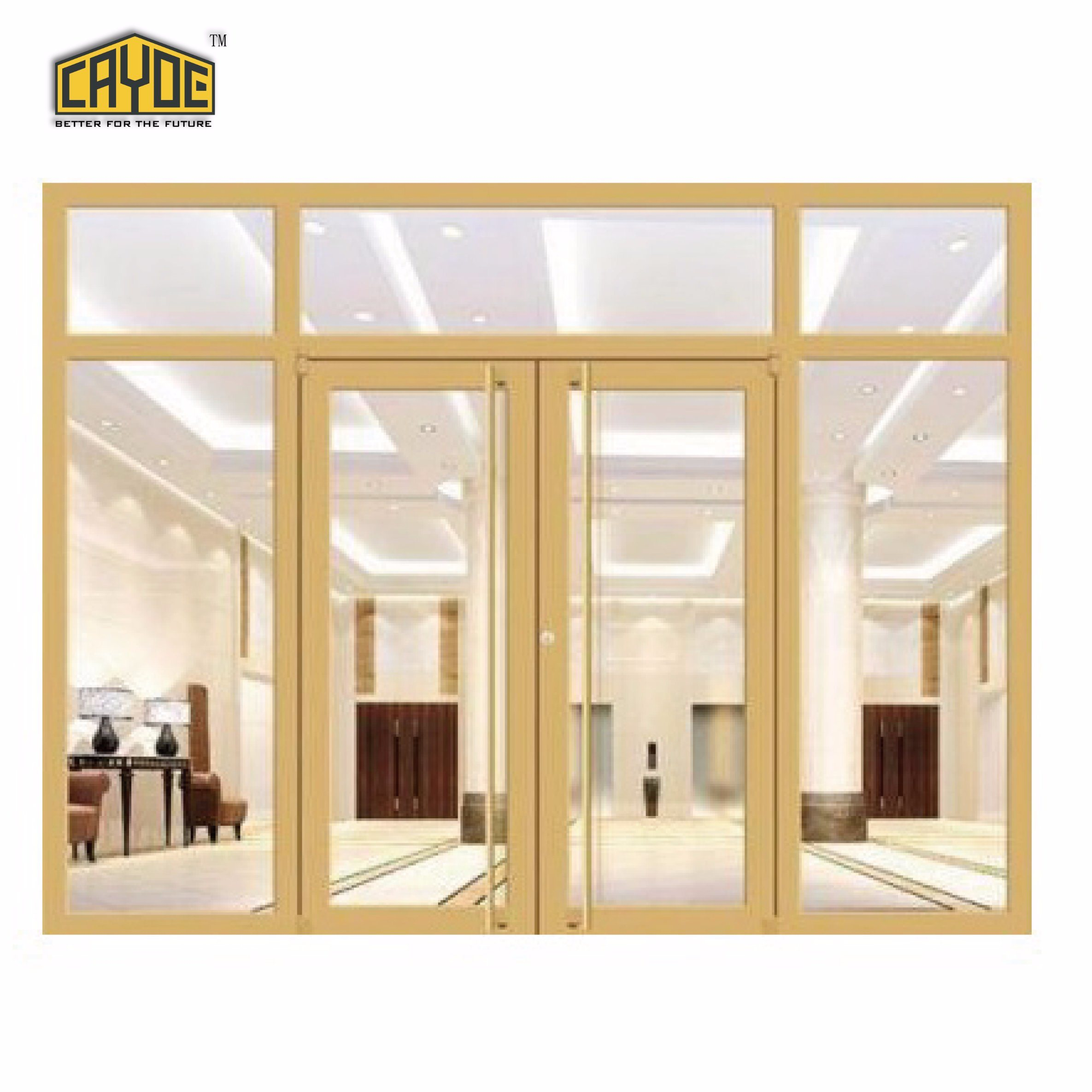 China Aluminium Frame Commercial Used Store Double Casement Door ...