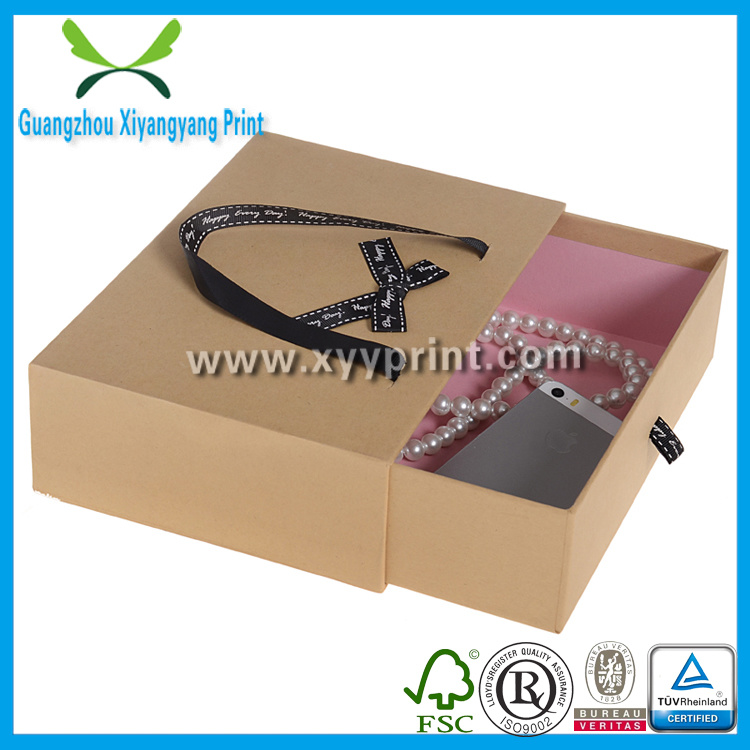 Custom Made Folding Kraft Paper Gift Boxes Printing Wholesale