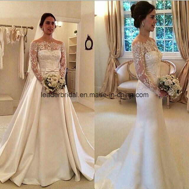 China off-Shoulder Ball Gowns Lace Detachable Train Wedding Dresses ...