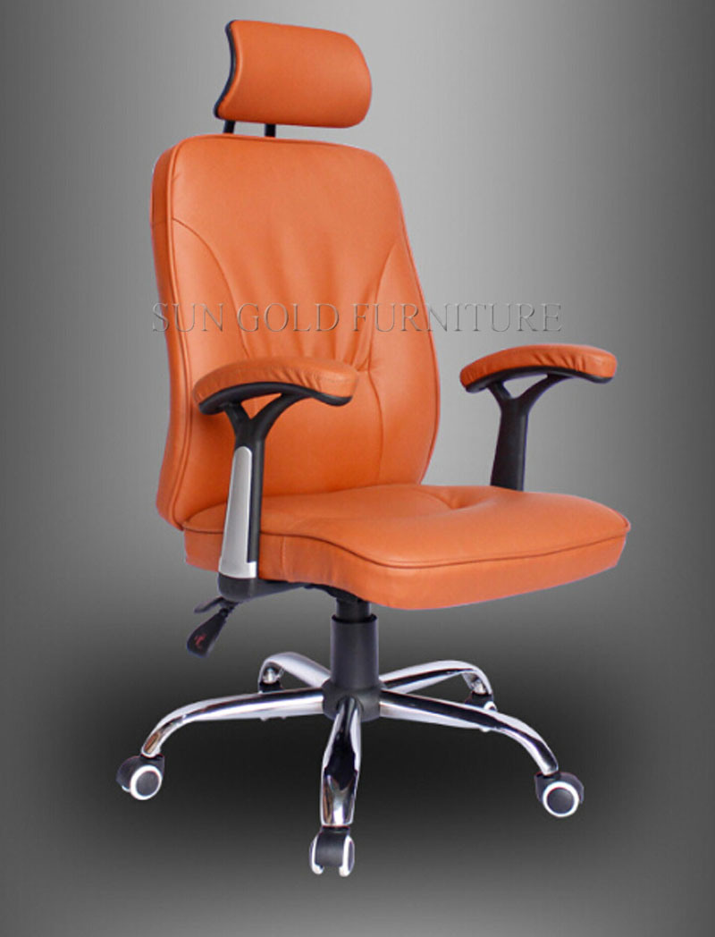 Picture of: China Commcrcial Orange High Back Swivel Boss Leather Chair Sz Oc131 1 China Chair Leather Chair