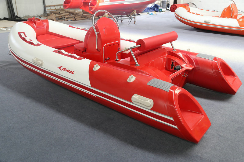 2016 New Model 4m Rigid Inflatable Boat Rib390c Rubber Boat Hypalon with Ce Fishing Boat