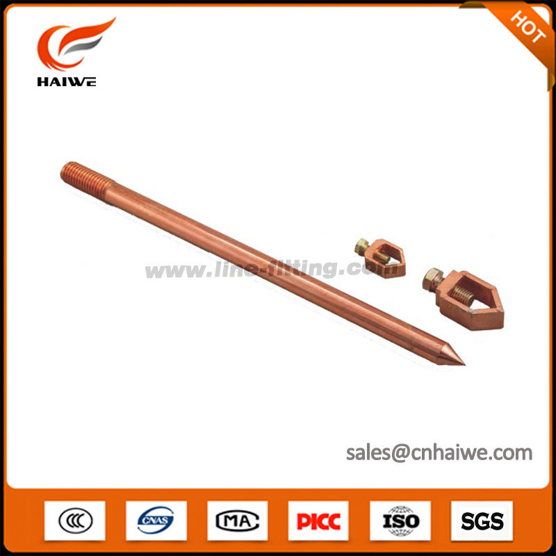 Copper Clad Steel Ground Rod Earth Rod for Pole Line Hardware