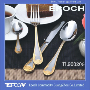 China Gold Plated Cutlery Set for Dubai (TL90020) - China Cutlery Dinnerware & China Gold Plated Cutlery Set for Dubai (TL90020) - China Cutlery ...