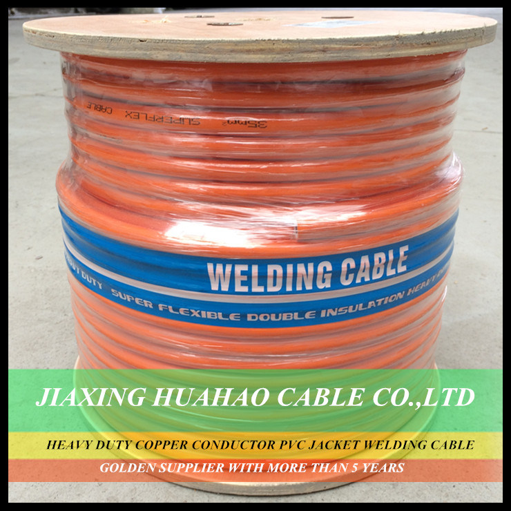 Double Insulation Heavy Duty NBR Insulation PVC Sheath 16mm2 25mm2 35mm2 50mm2 70mm2 95mm2 120mm2 Heavy Duty Orange Welding Cable