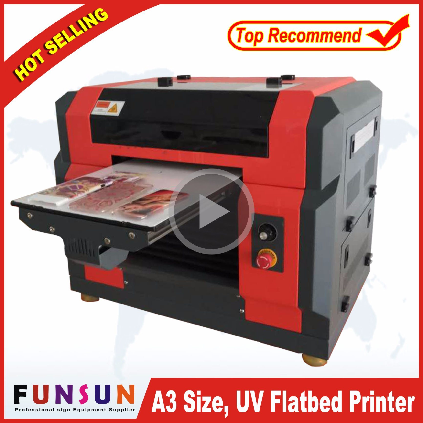 China New Model Flatbed PVC Printer With UV Lamp Dx5 Head 1440dpi For IC ID Card Business Glass Phone Case T Shirt Printing