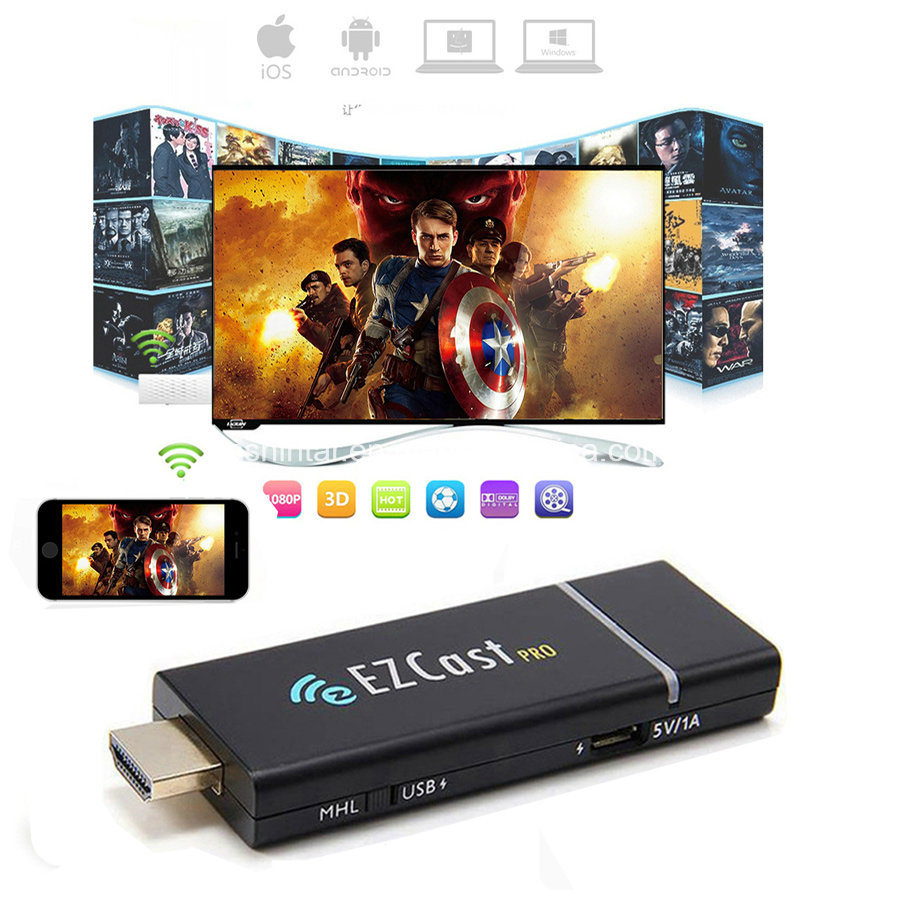 China Ezcast Pro Dongle Mhl Hdmi Mirror2tv Miracast Airplay Tv Stick Anycast Wifi Display Receiver Wireless Hd Mirroring