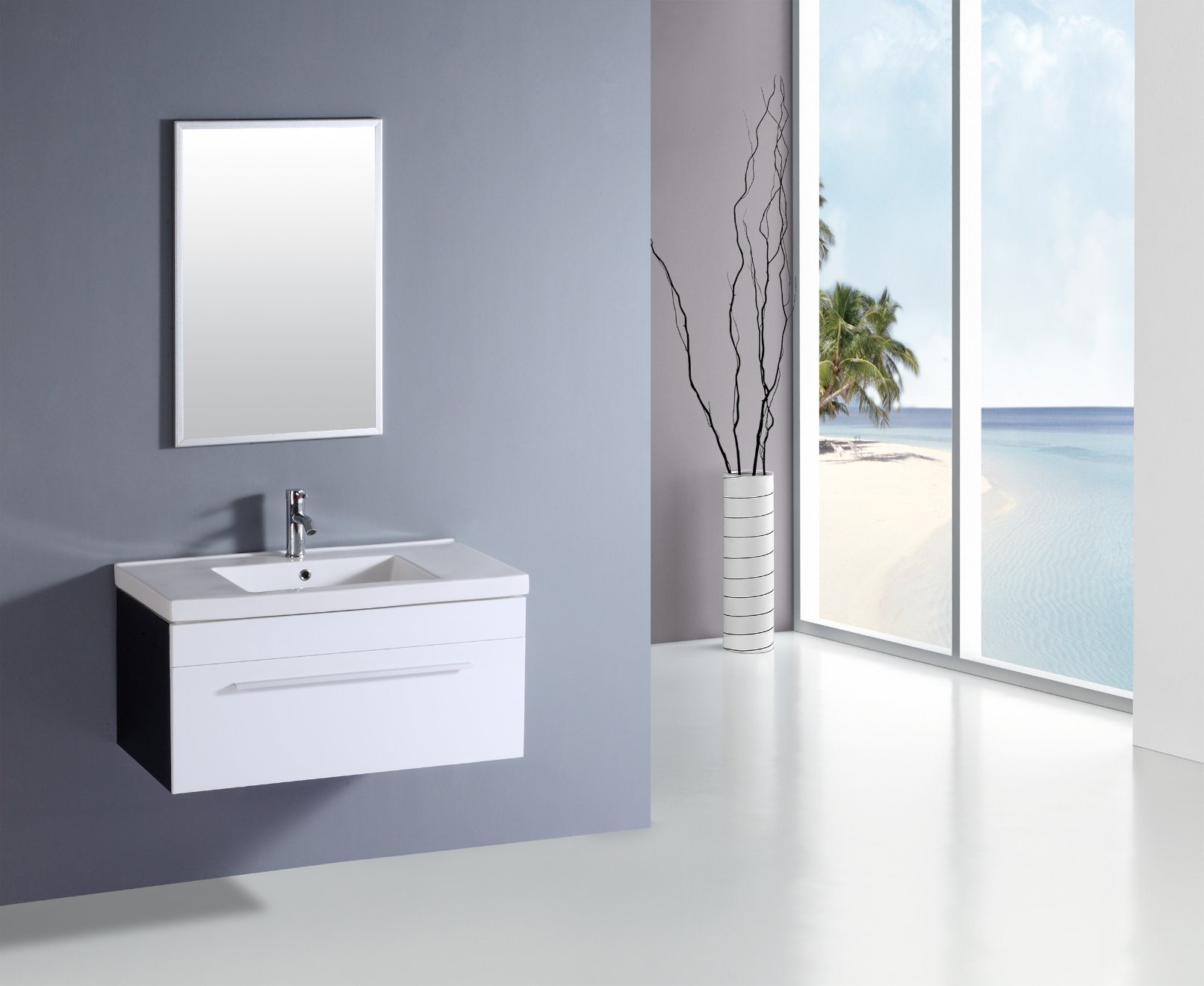 China Modern Furniture Bathroom Basin Cabinet MDF Sanitary Ware ...