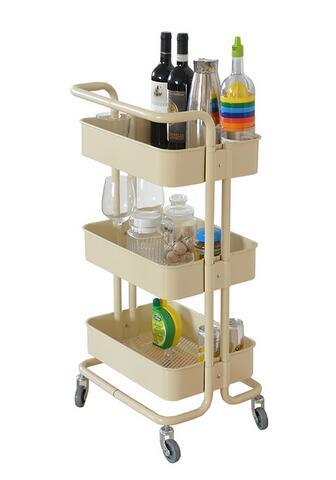 Cheap Metal 3 Tier Rolling Cart Kitchen Vegetable Cart Storage Cart