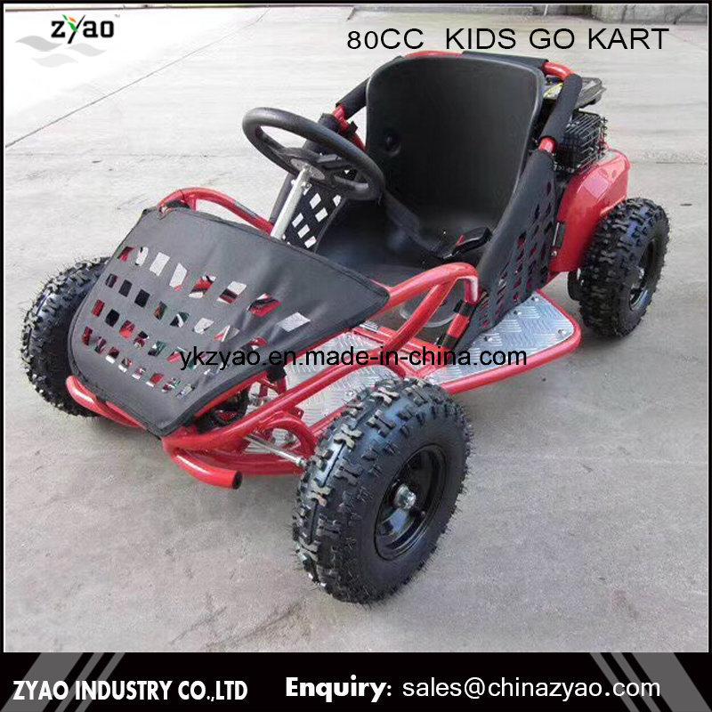 China Small Racing Go Kart 80cc Mini Kids Pedal Electric 500W Go ...