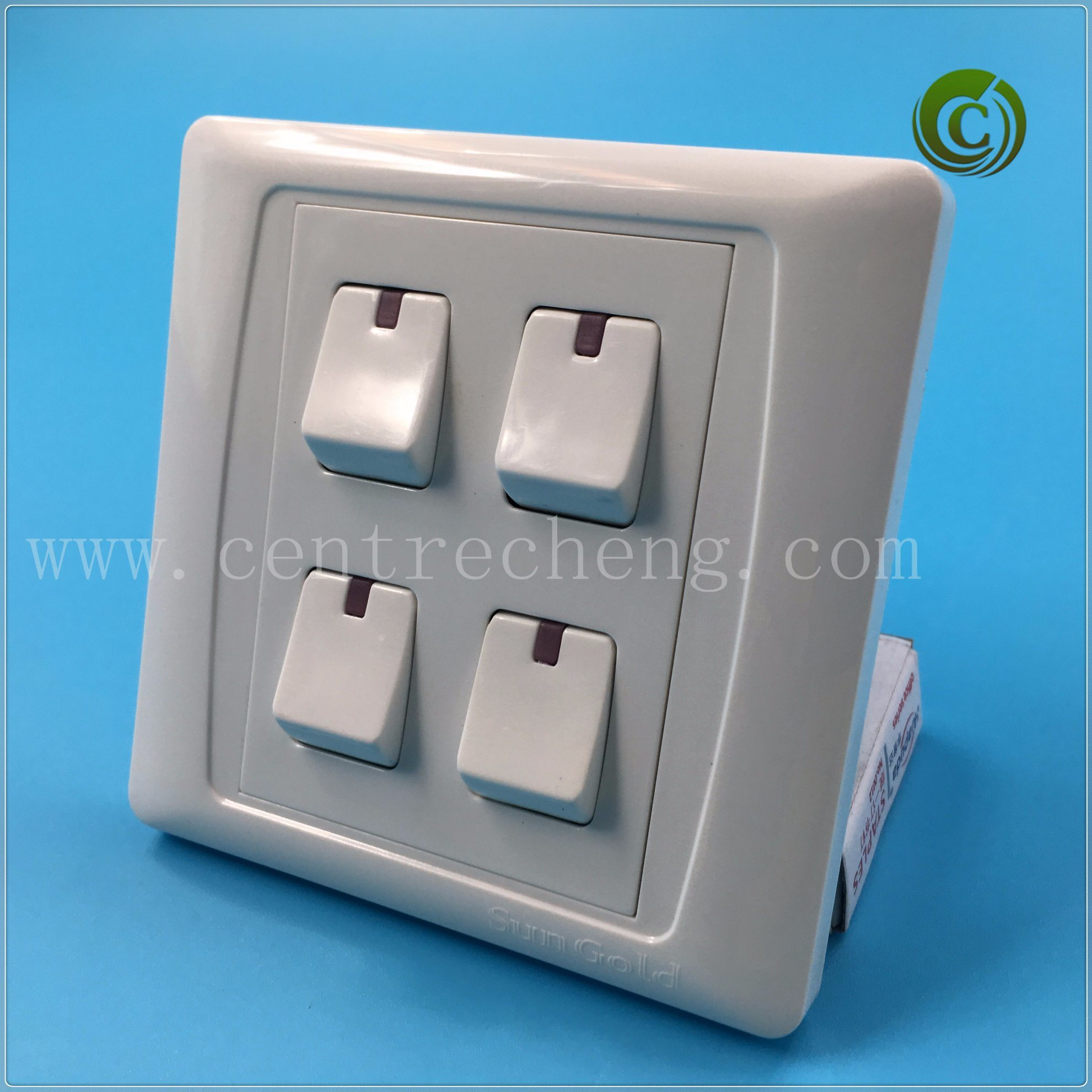 China 3 Gang 2 Way Switch White Wall Electrical Light