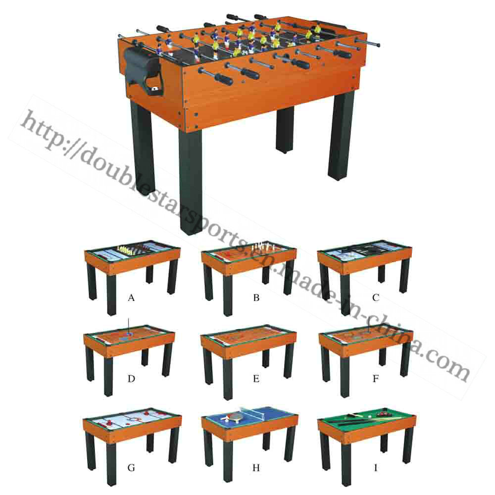 Wood Mini Soccer Table for Children Multi Games 9 in 1
