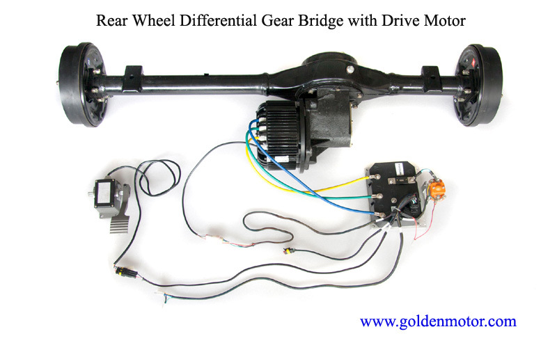 China Electric Car Motor Drive Kit 10kw Water Cooled Dc