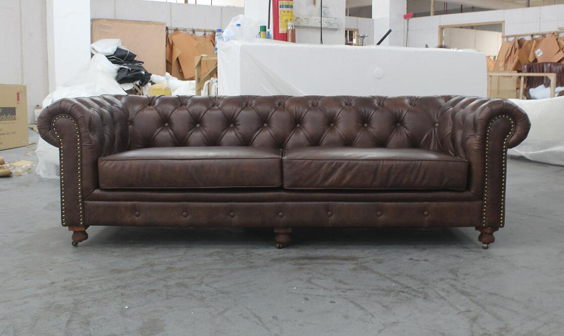 Delicieux Chesterfield 3 Seater Sofa, Classic Italian Leather Sofa Td 01 3