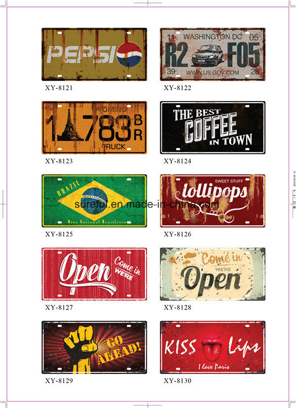 Home Decor Vintage Tin Signs 15*30cm 20*30cm 30*30cm