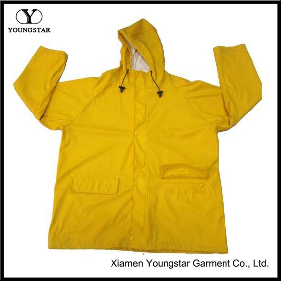 Wholesale Functional PVC / Polyester Long Raincoat with Best Price
