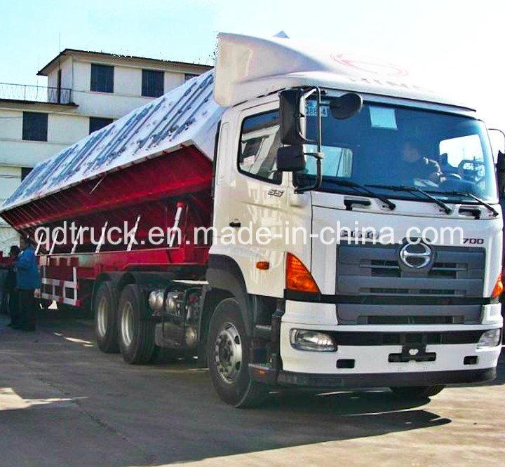End Dump Truck >> Hot Item Side Or End Dump Truck Trailer Tipping Trailer Tipper Trailer Heavy Truck Trailer