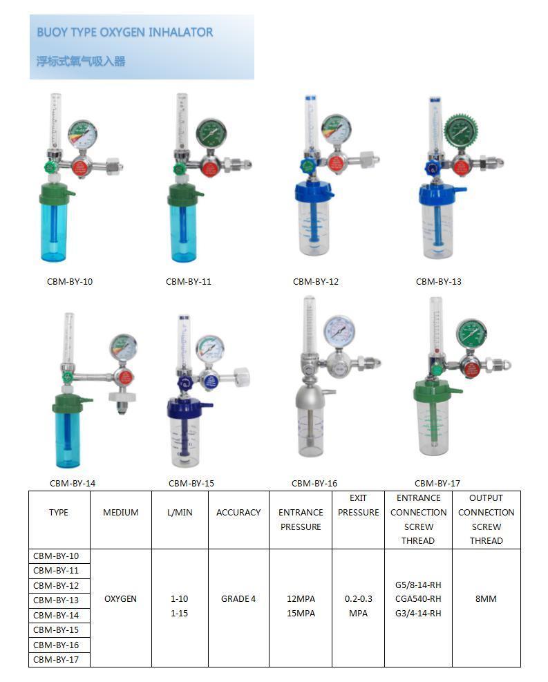 China Buoy Type Oxygen Inhalator Gas Regulator Cbm By 11 Photos