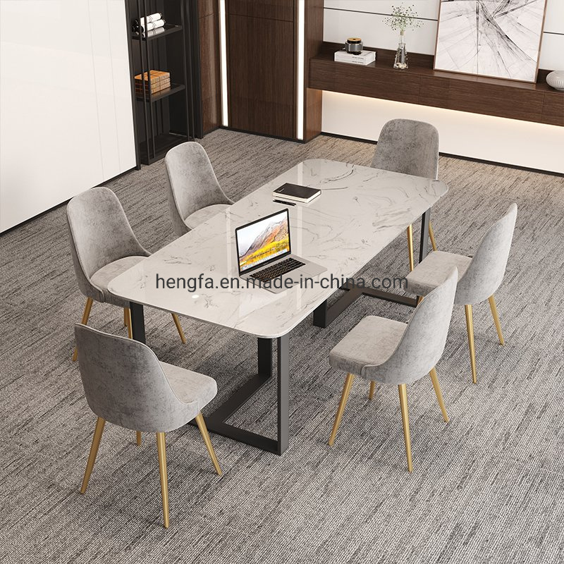 China Modern Italian Kitchen Furniture Sets Metal Marble Rectangular Dining Table China Table Base Dining Table