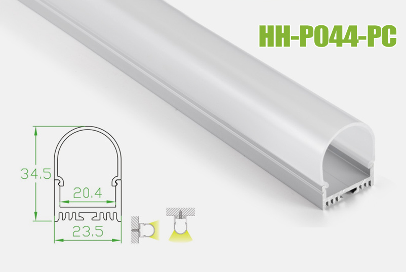 Hh-P044-PC Surface Mounted LED Aluminum Profiles