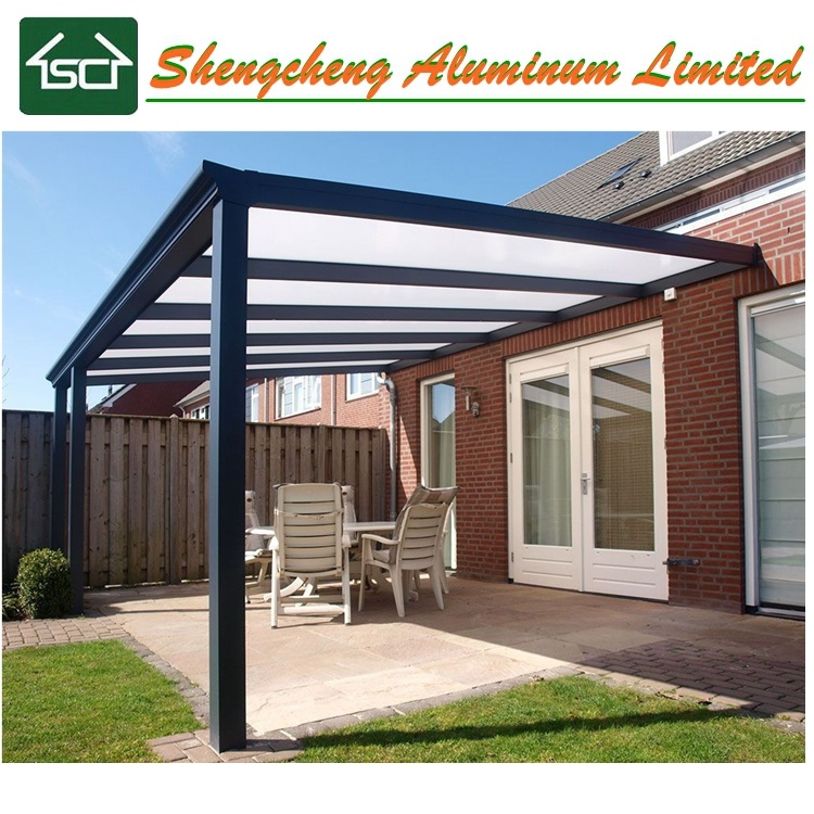 China European Waterproof Pergola Canopy With Aluminum Frame And
