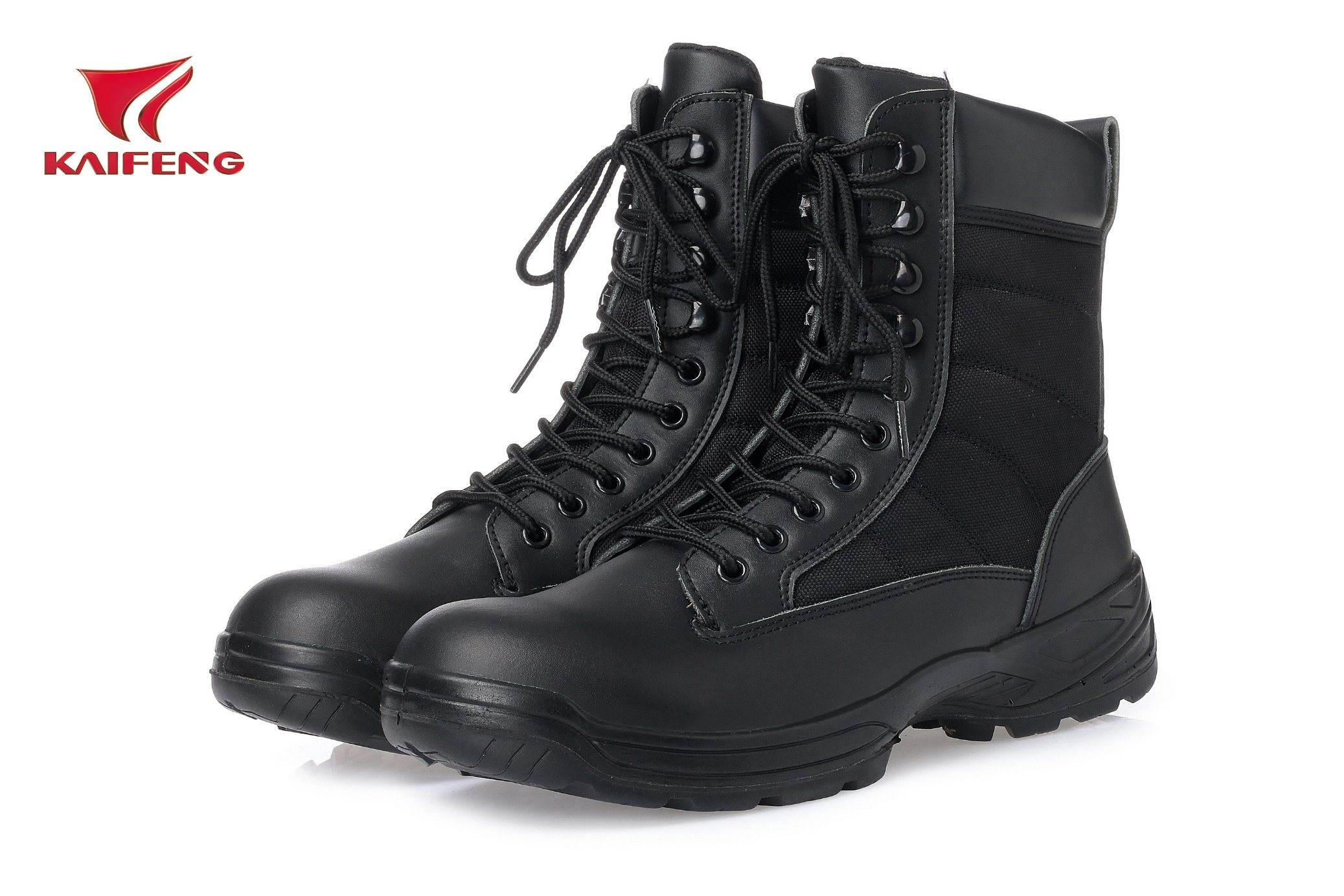 Men′s Leather Combat Military Boots