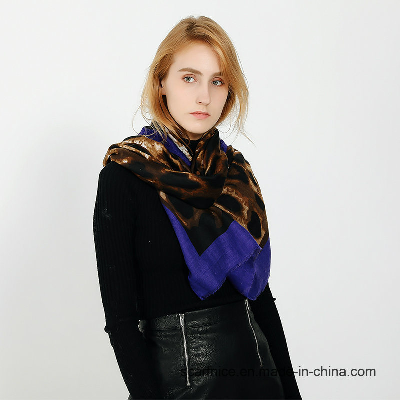 China Winter 2019 Leopard Scarf Head Wrap British Style Shawls