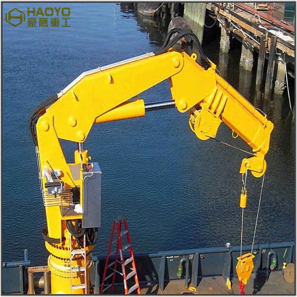 Small Hydraulic Stiff Boom Telescopic Marine Crane For