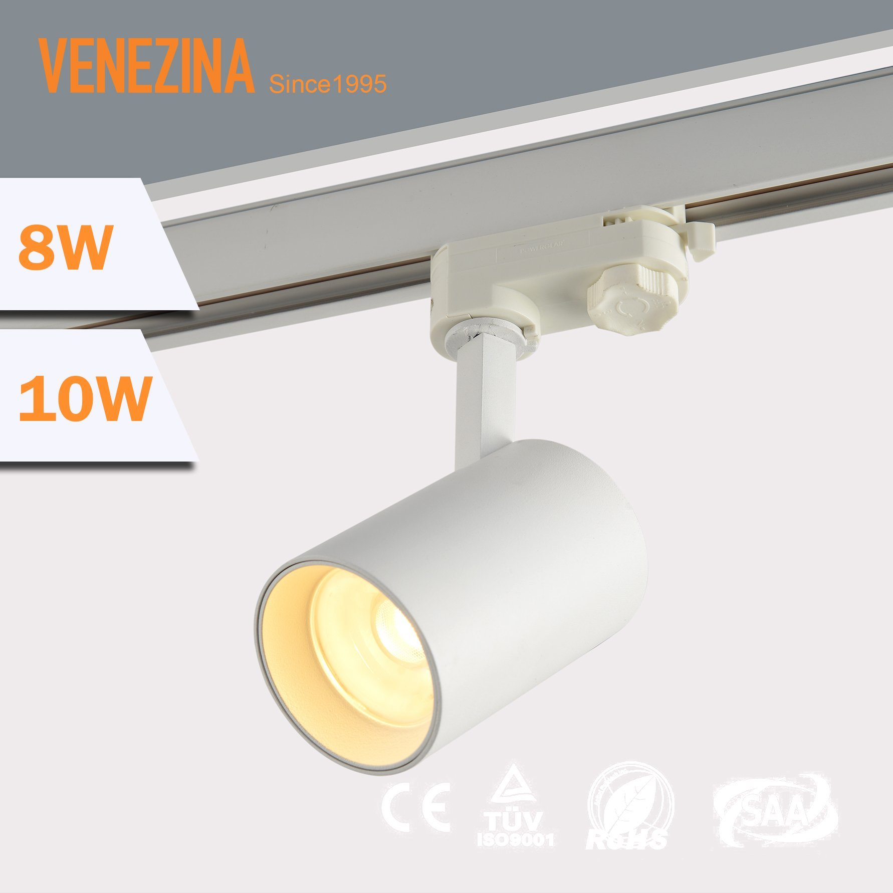 China Commercial Interior Lighting Cree High Cri 10w 15w Cob Led Track Light For Gallary Museum