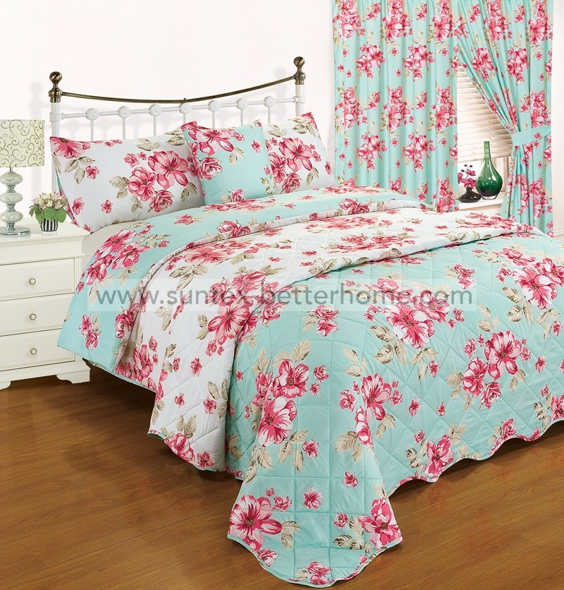 Fl Pattern 7pcs Bedspread Quilt Set