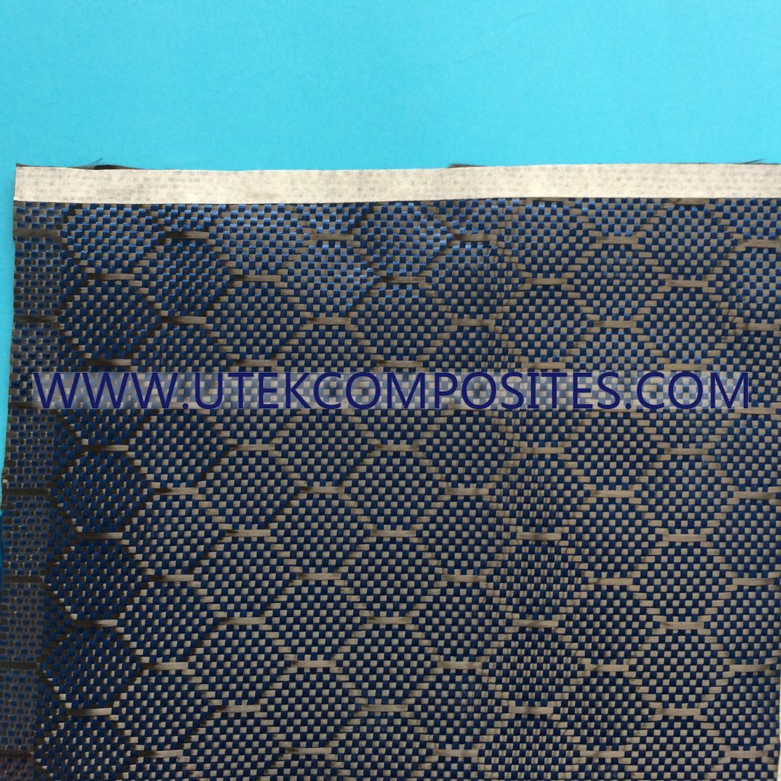 China Blue Carbon Kevlar Hybrid Fabric Photos & Pictures