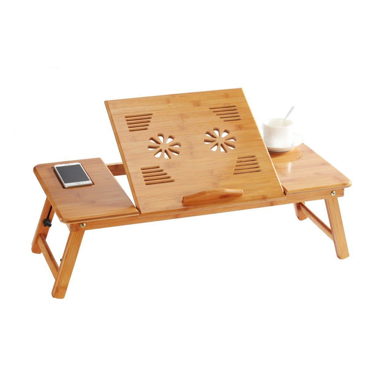 Picture of: 70cm Foldable Folding Lap Desk Bamboo Laptop Bed Table Stand Tray Desk Adjustablebt 2204 China Serving Tray Ventilation Holes Made In China Com