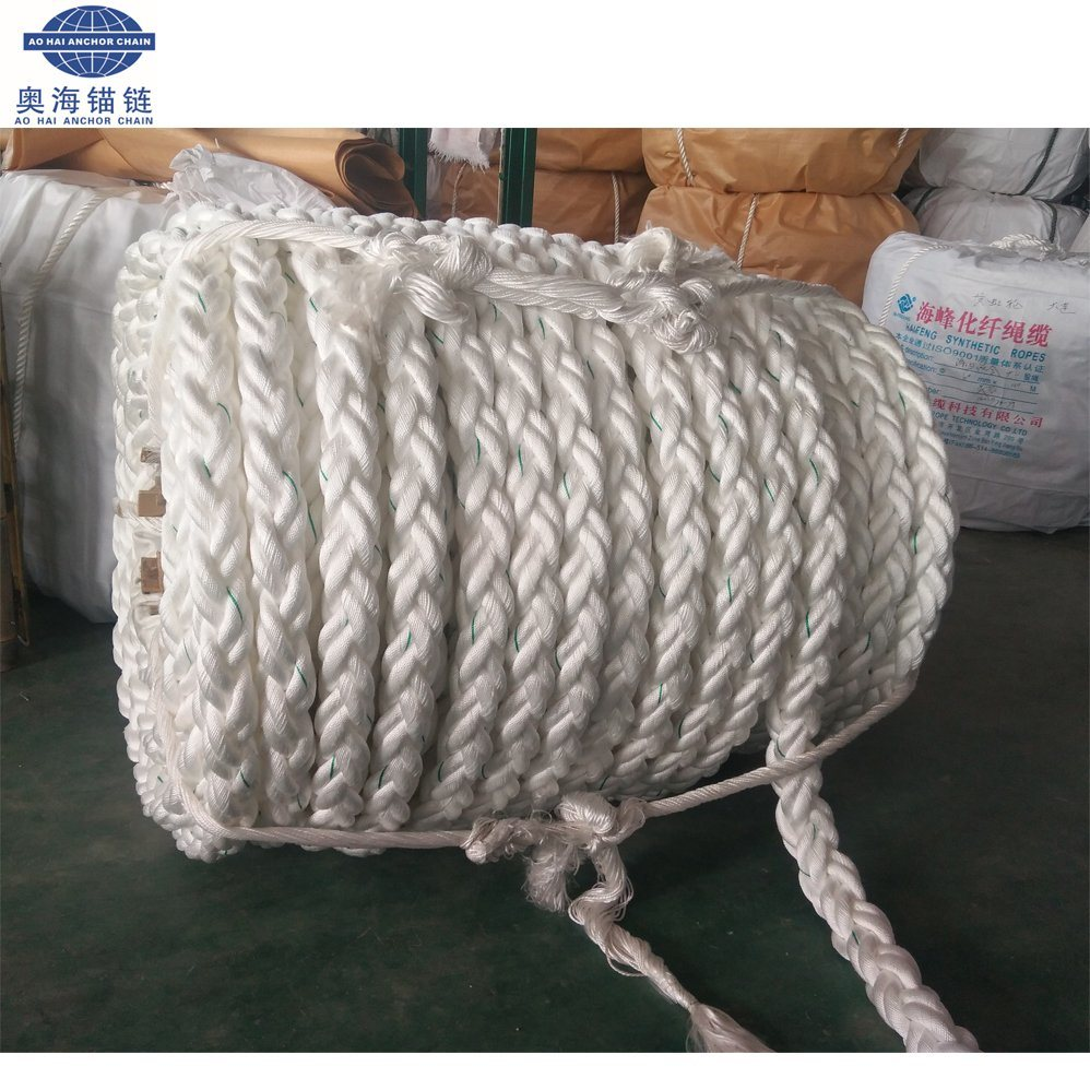 [Hot Item] 8-Strand Braided 40mm Polyester PE Mooring Rope for Ship