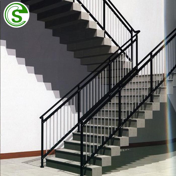 China Powder Coating Handrail Iron And Steel Stair Railing