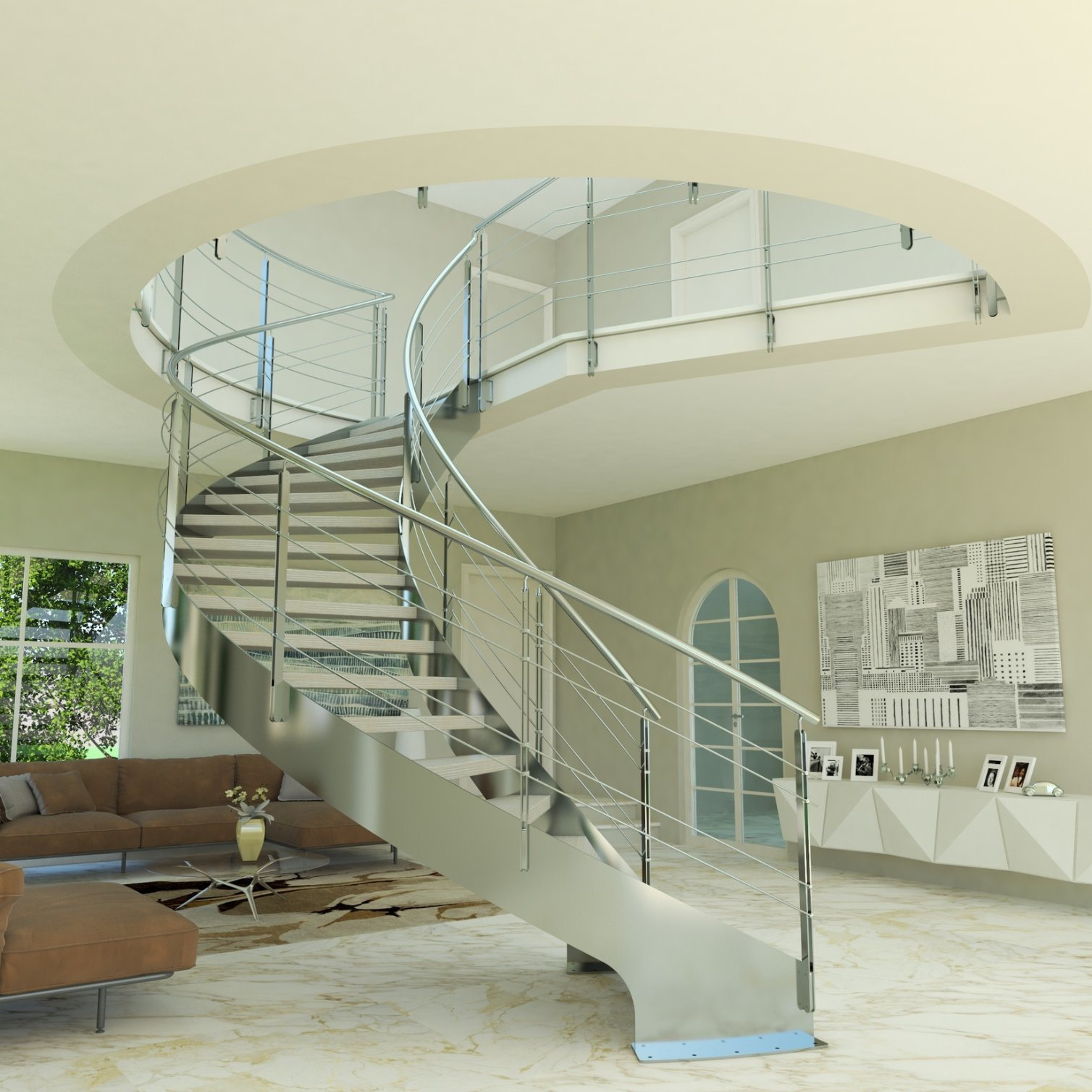 Picture of: China Residential Wooden Curved Stairs Included All Modular Staircase Kit Easy Install Stairs For Villa China Stairs Glass Staircase
