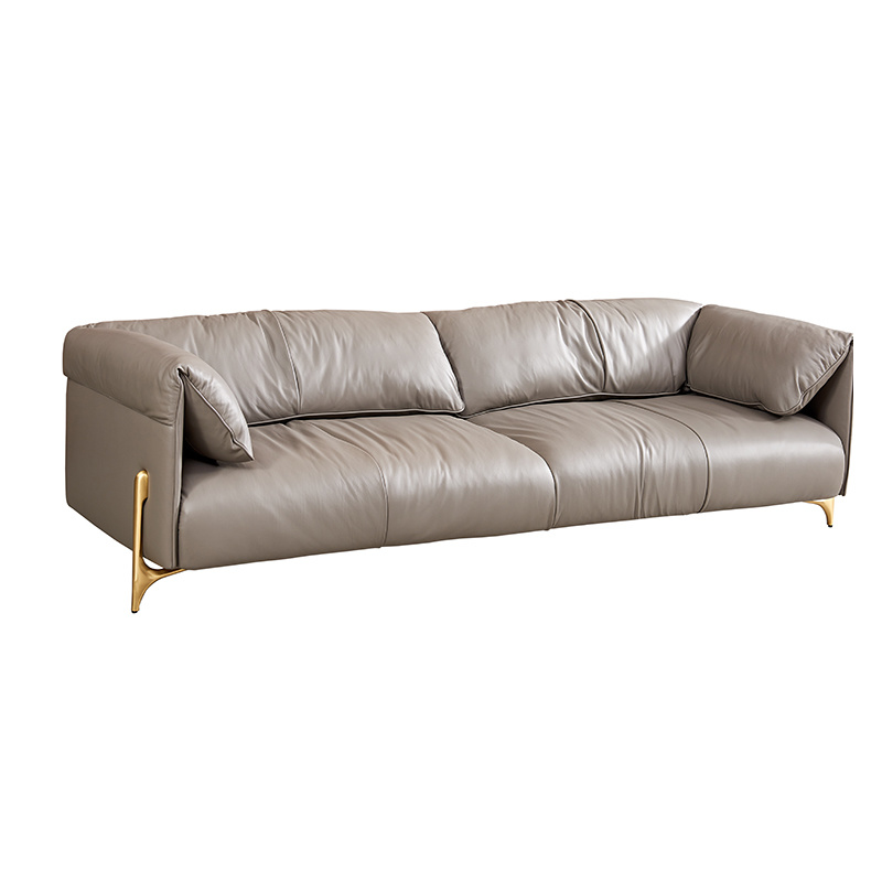 High End Living Room 3 Seats Leather