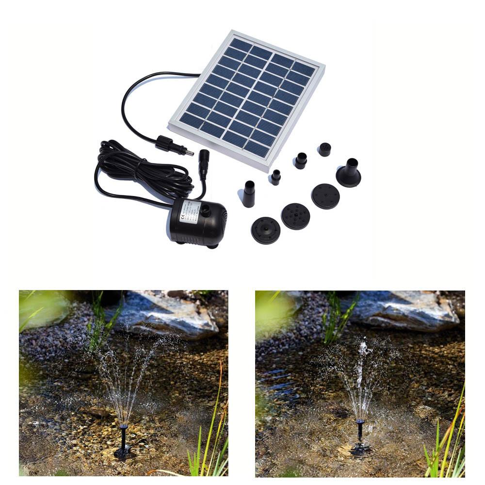Solar Power Fountain Water Pump Panel Garden Pond Pool Submersible Watering Kit