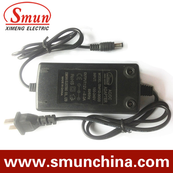 AC/DC Adapter Monitor Power Supply 12V 1A 12W Wall Mounting (SMH-12-1) pictures & photos