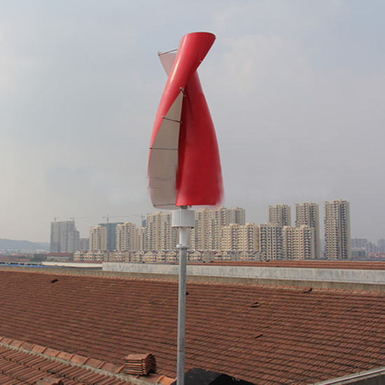 Sv Type 100W Small House Wind Turbines 12V/24V Vertical Axis Wind Generator System with Solar Panel pictures & photos