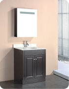 MDF Bathroom Cabinet with Espresso Painting