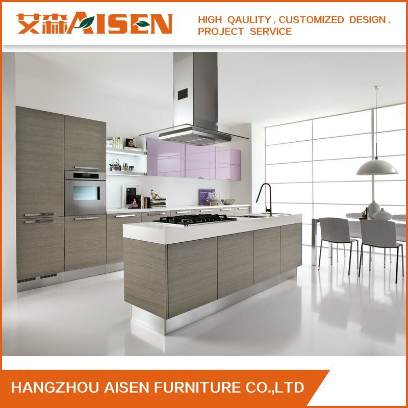 [Hot Item] Long Warranty Time Commercial Small Wood Veneer Kitchen Cabinet